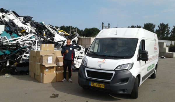 Oude verbandtrommels gerecycled